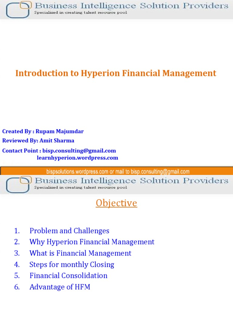 hyperion financial management consolidation business form 10 k rh scribd com Hyperion FDM Hyperion FDM